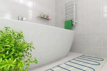 Как сделать электрический теплый пол в ванной комнате