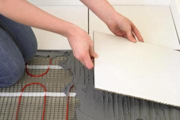 Электрические теплые полы под плитку: разновидности и монтаж