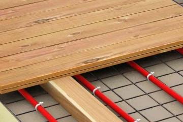 Электрический теплый пол на деревянный пол: особенности при монтаже