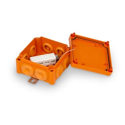 Junction box E90 100 x 100 mm, PP, 4 x KR6.4