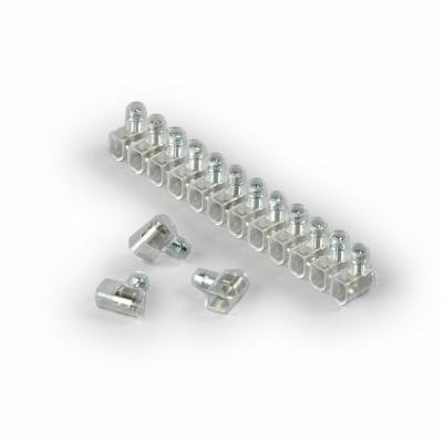 Блок клемм, 1-полюсный, 2,5 мм²