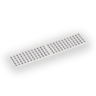 Клейкая лента, маркирован PE, N, L1, L2, L3 (2x), для Cu 6 мм² клеммных блоков