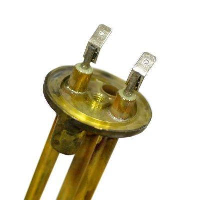 ТЭН RCA  1500 Вт. M6 под анодгоризонтальный  (фланец 48мм)  (3401262)(трубка термостата 9 мм под 2 датчика капилярн. термост.)