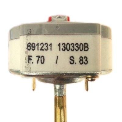 Термостат стержневой TBS 220 16A 70oС/83oС (Биполярная термозащита на 83 гр.) Укороченный 220мм, для ЭВН 10-30 литров