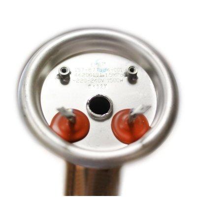 ТЭН RF 1,5 кВт SB  M6 под анод  (1 трубка для термостата и термозащиты, фланец 82 мм. Универсальный однорежимный ТЭН для водонагревателя  30-150л.  горизонтальный)