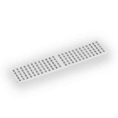 Клейкая лента, маркирован 1 - 3 (4x), для Cu 6 мм² клеммных блоков