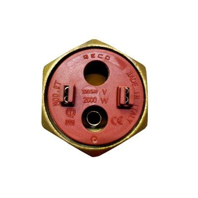 """ТЭН RECO RDT 2000 Вт. M6 фланец """"гайка""""- резьба D42мм. (Универсальный ТЭН для водонагревателей Аристон, Реал и другие)"""
