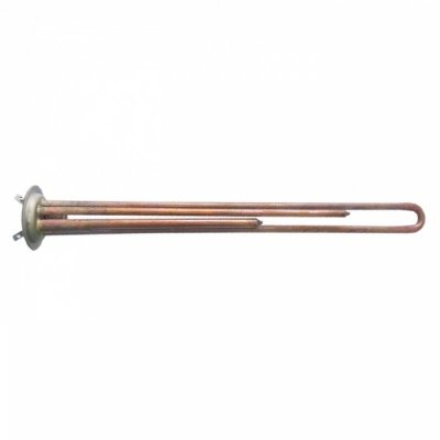 ТЭН RF 2000 Вт бол. M6 под анод(2 трубки термостата L-400мм)     (фланец 64 мм. Универсальный однорежимный  для LEMAX, OASIS       аналог 30035, 721373