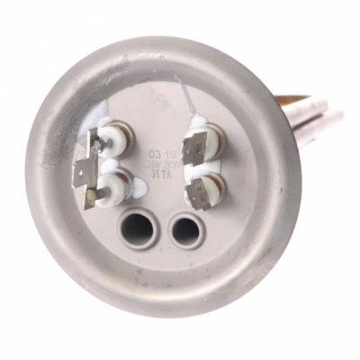 ТЭН RF 2,0 кВт(1.3+0.7) (медн.) M4Гарантерм( фланец 73 мм.)(L-300мм, 2 трубки для термостата и термозащиты)
