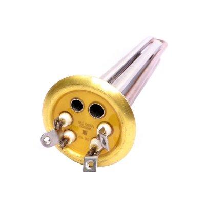 ТЭН RF TW 2000 Вт.(700+1300) PREMIUM (медн) M4 под анод (L-303мм,  Латунный фланец 64 мм., трубки под термостат нерж.) ULTRA SLIM