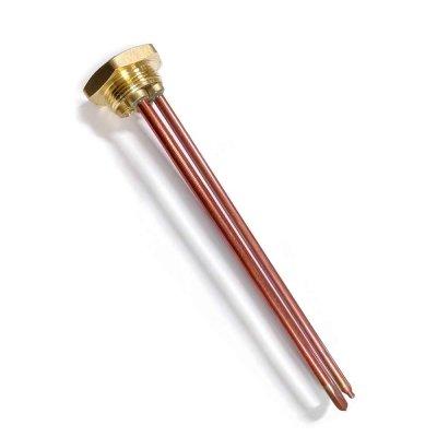 """ТЭН  RDT 2,5 кВт M6  ИТА+фланец """"гайка""""- резьба D42мм. (Универсальный ТЭН для водонагревателей Аристон, Реал и другие) заливка композитная"""