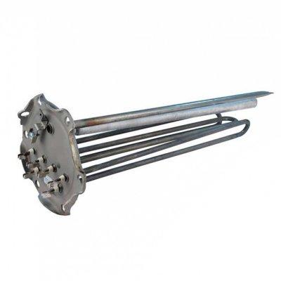 ТЭН 6кВт (3х2000Вт 230В) с анодом М8 фланец D170мм 6 отв.  трубка термостата - 470ммдля пром. ЭВН Аристон TI TRONIC INDUSTRIAL