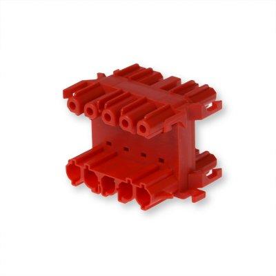 Распределительный блок 5-полюсный, красный