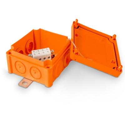 Junction box E90 100 x 100 mm, PP, 4 x KR6