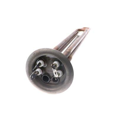 ТЭН RF TW 2500 Вт.(1500+1000) M4 под анод(L-400мм, общий контакт под винт М42 нерж. трубки для термостата и термозащиты, фланец 64 мм.  водонагреватели Оригинал Аристон ШАТЛ - 65150721)