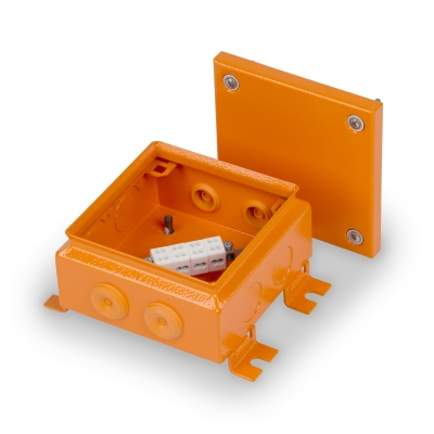 Junction box E90 150 x 150 mm, FE, 4 x KR6.6