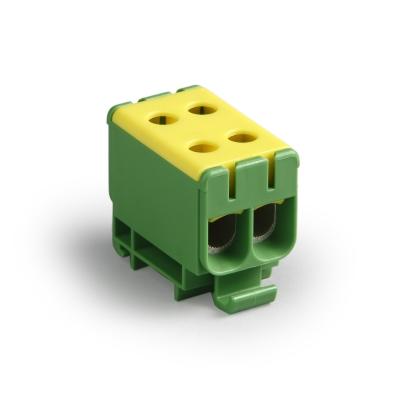 Распределительный блок, жёлтый/зелёный, Al 6-50 мм², Cu 2.5-50 мм²