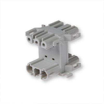 Распределительный блок 3-полюсный, C-CODE, серый