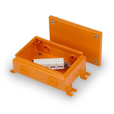 Junction box E90 220 x 150 mm, FE, 4 x KR6.4