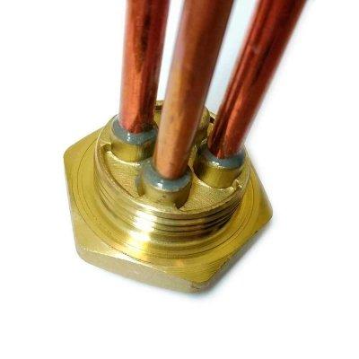 """ТЭН RDT 1,2 кВт M6  ИТА+  фланец """"гайка""""- резьба D42мм. (Универсальный ТЭН для водонагревателей Аристон, Реал и другие) заливка композитная"""