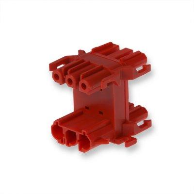 Распределительный блок 3-полюсный, C-CODE, красный