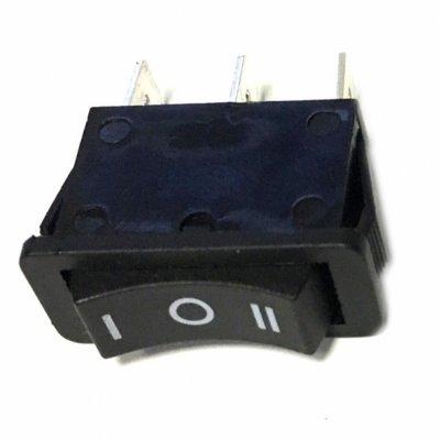 Выключатель одноклавишный 13*29мм (15А 250В, 3 положения ON-OFF-ON)