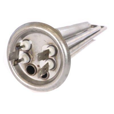 """ТЭН """"ИТА"""" RF64 2,0 кВт.(нерж.) с анодом M4 (L-300мм, 2 трубки для термостата и термозащиты фланец 64 мм. )  (Универсальный ТЭН для водонагревателя)"""