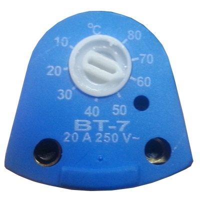 Термостат стержневой  ВТ-7 10-80oС 20А 220В   Утолщенная трубка - 170х8 мм   Без термозащиты Для Блок-ТЭНа до 4,5кВт
