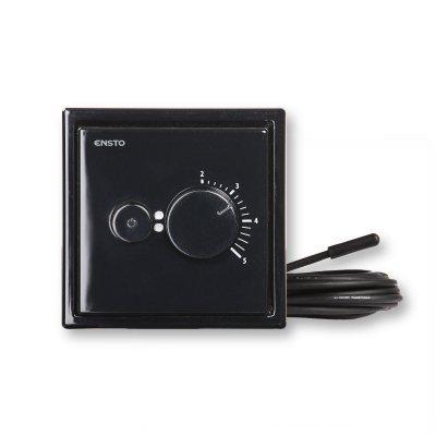 Терморегулятор д/теплого пола ECOINTRO10FSW Intro, черный