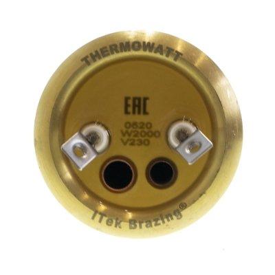 ТЭН RF 2000W, TW PREMIUM, медь, Ø64мм, M6, клеммы под винт, L410мм, латунный фланец, 220V