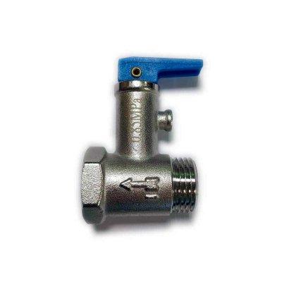 """Клапан предохранит. 1/2"""" 8,5 бар.(0.85 МПа)  (с синей ручкой)"""