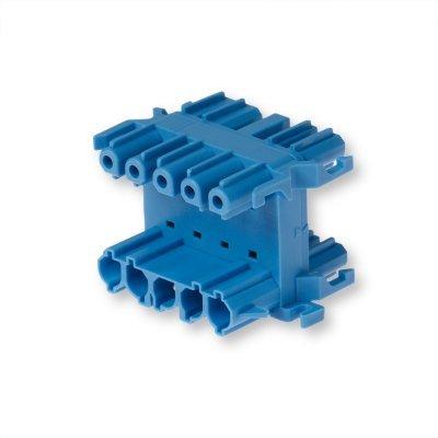 Распределительный блок 5-полюсный, синий