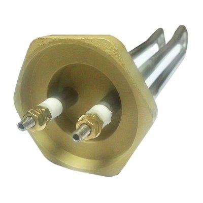 """ТЭН RCT 3,0 кВт фланец """"гайка""""- резьба D42мм. Без трубки термостата Для котлов, контакты под гайку"""