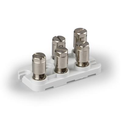 5-полюсный, Cu 10 мм², основание термоотверждающийся пластик, 500 V
