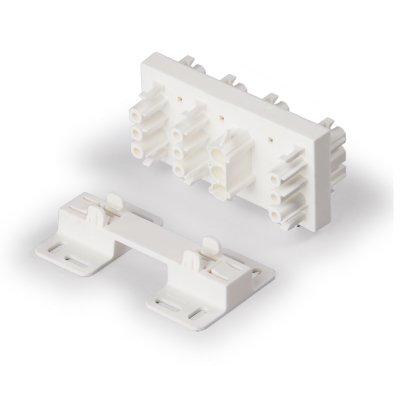 Распределительный блок 1 фаза, 7 выходов, белый