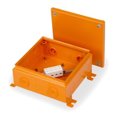 Junction box E90 220 x 220 mm, FE, 4 x KR6