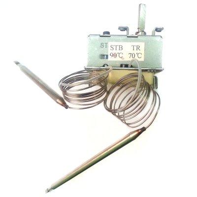 Термостат регулируемый/защитный 3-х фазный     универсальный     70/90°С STB-TR Н19  16А/380В 20А/220В (2 капиляра L-850)