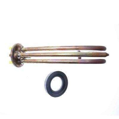 ТЭН RCF 1200 Вт М5 под анод, L 160мм, медь, клеммы под стержневой термостат, 230В,  прокладка, для ЭВН Аристон малого объема. В упаковке Ariston оригинал (использовать с термостатом арт.65114908 )