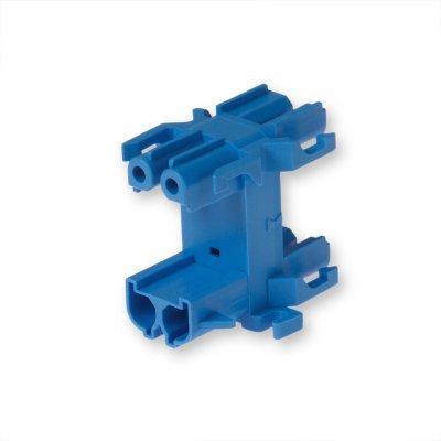 Распределительный блок 2-Полюсный, синий