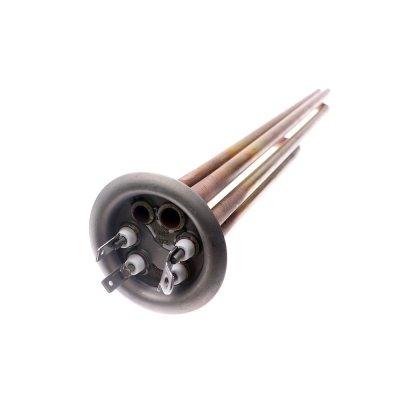 ТЭН RF TW 2500 Вт.(1500+1000) M4 под анод(L-400мм, общий контакт под винт М42 медных трубки для термостата и термозащиты, фланец 64 мм.  водонагреватели Аристон ШАТЛ, замена 65150721)
