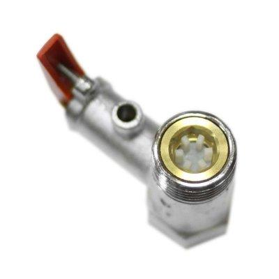 """Клапан предохранит. 1/2"""" 6 бар.(0.6 МПа) (С красной ручкой)"""