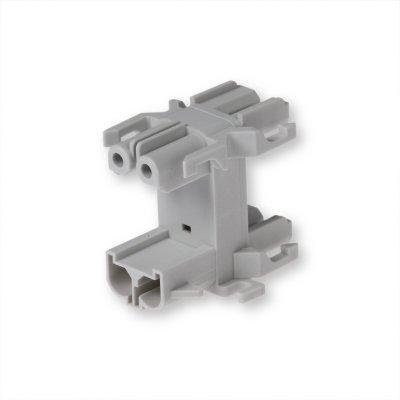 Распределительный блок 2-Полюсный, серый